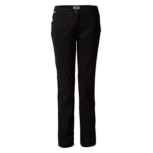 Craghoppers Kiwipro - Pantalones para Mujer, KiwiPro - TRS, Mujer, Color Negro, tamaño 16 Largo