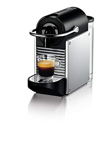 De\'Longhi EN 124.S Nespresso Pixie EN124.S Macchina per caffè Espresso, 1260 W, Plastica, Argento, 0.7 Litri, Metallo