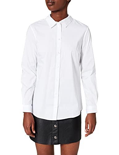 Jdy Jdymio L/s Shirt Wvn Noos Camicia, Bianco (White White), 40 (Taglia Produttore: 34) Donna