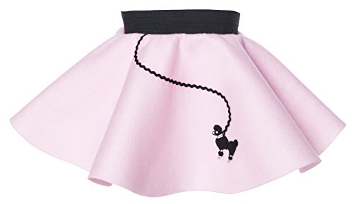 Hip Hop 50s Shop Baby and Toddler Poodle Skirt (Light Pink, Baby)