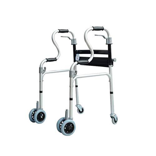 YHtech Ancianos Andador Andador discapacitados de Ruedas de Aluminio Walker Antideslizante bastón con el Hospital