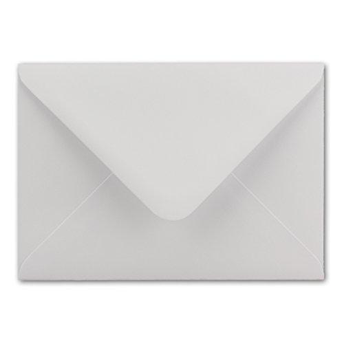 50x Briefumschläge DIN C6-11,4 x 16,2 cm - mit Nassklebung - Farbe: Weiss - Grammatur: 100 g/m² - Marke: NEUSER PAPIER