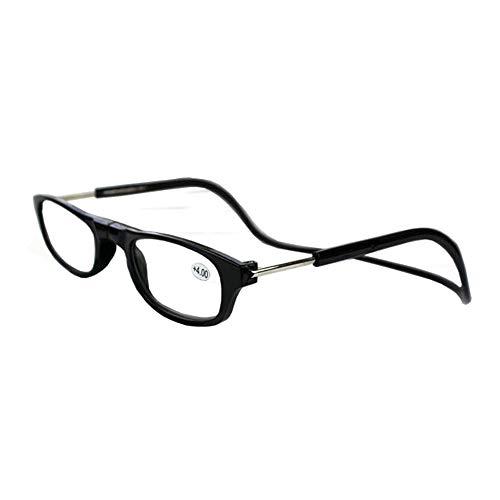 GEMSeven Unisex Magnetische Lesebrille Falten Reader Gläser Einstellbare Hals Hängenden Brillen