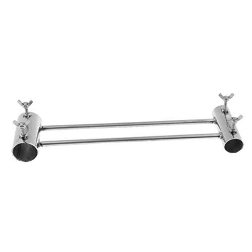 Toygogo Outdoor Schirmhalter Halterung Unterstützung Angeln Stuhl Schirmhalter Ständer - Silber, Verlängern