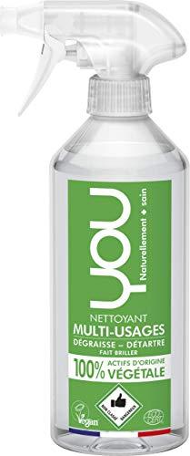 YOU 31501109 Spray Nettoyant Multi Usages, végétale, Vert, 500 ml