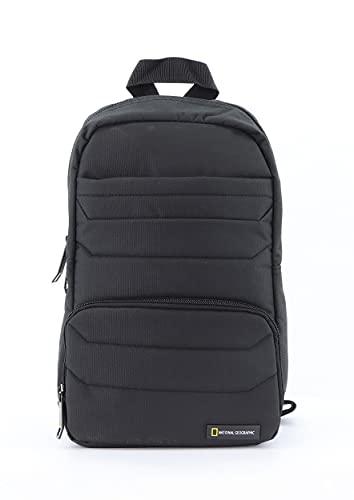 National Geographic Sac bandoulière unisexe adulte, Mixte, Sac en écharpe, N14103.06, Noir (Noir), Taille unique