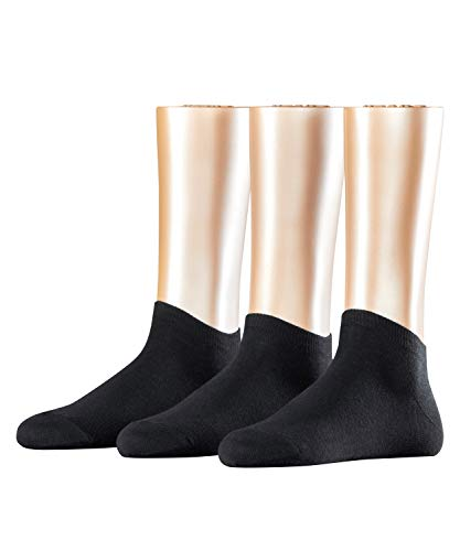 ESPRIT Damen Sneakersocken Solid 3-Pack - 80% Baumwolle , 3 Paar, Schwarz (Black 3000), Größe: 36-41