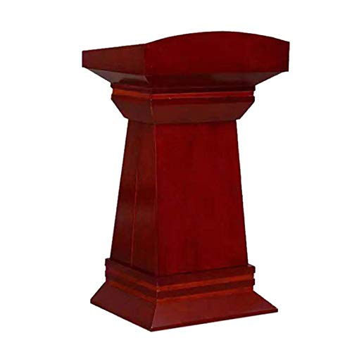 TnSok Stehendes Podium Hölzerne sprechende Rednerpilze mit Schublade und großer Lagerung, sprechendes Vortragspodium, hochwertiges Handelspodium (Color : Red Brown, Size : 50x80x120cm)