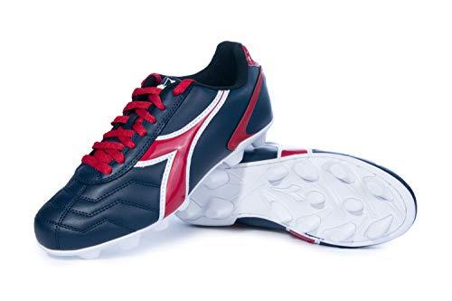 Diadora Men's Capitano MD VS Outdoor Soccer Shoes (Navy Blue/Red, 10)