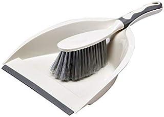ほうき ちりとりセット ミニクリーニングブラシ 掃除道具 軽量 掃除セット 台掃除用 床 テーブル キッチン 運転席 おしゃれ 年末掃除 ペット用にも (グレー)