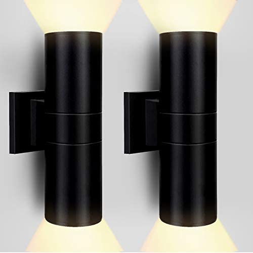 XINGGUANG MINGREN Waterproof Outdoor Wall Lamp 24W LED Cylinder Up Down Wall Light 3200 Lm 2700k product image