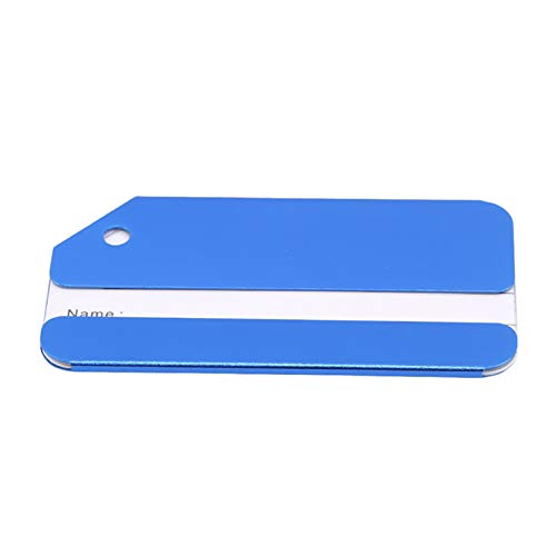 Flybloom Aluminum Luggage Tags Travel Suitcase Bag Baggage Tag(Blue)