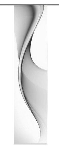 Home fashion 86914-703 Bristol - Tenda a pannello con stampa digitale, Grigio, 300 x 60 cm