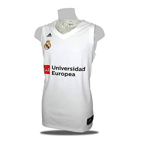 adidas Camiseta Baloncesto Real Madrid 18/19 Blanca (XXL)