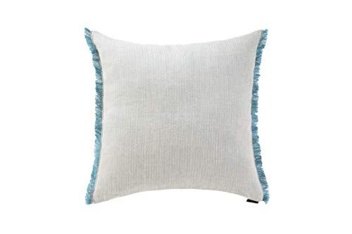 Herringbone Emerald Green Linen Cushion Cover - 45cm x 45cm
