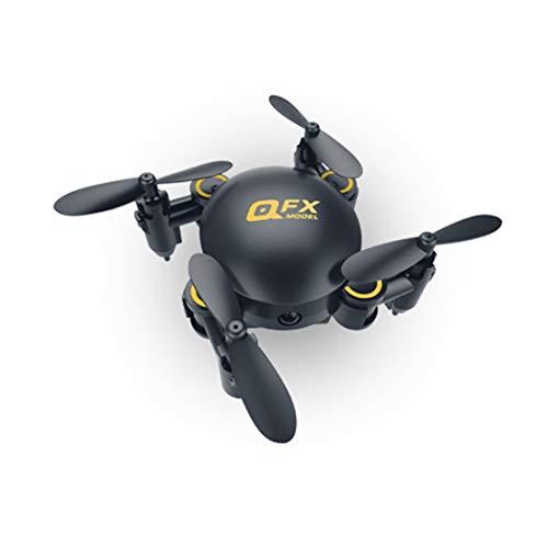 LouiseEvel215 Mini Drone Plegable Pocket WiFi Posicionamiento aéreo Aviones de Cuatro Ejes fijos Control Remoto Aviones pequeños