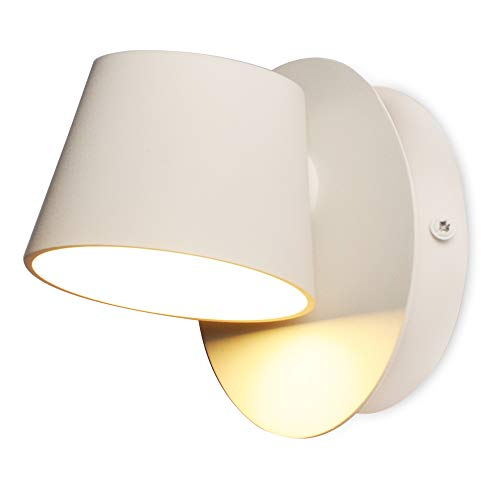Aplique de pared LED Diseno Orientable 6W Redondo Dormitorio Salon Interior Lampara Arriba Abajo Moderna Habitacion