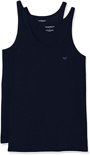 Emporio Armani Underwear Herren 111612CC722 Schlafanzugoberteil, Blau (MARINE/MARINE 27435), Medium (2er Pack)