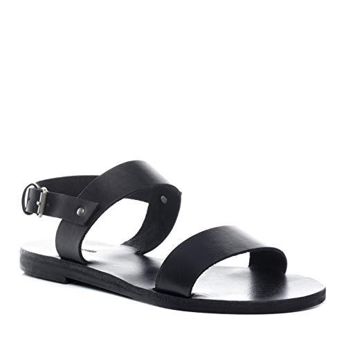 BACCINI Sandale Cuir AVA 39 EU Nu-Pieds Claquette Noir