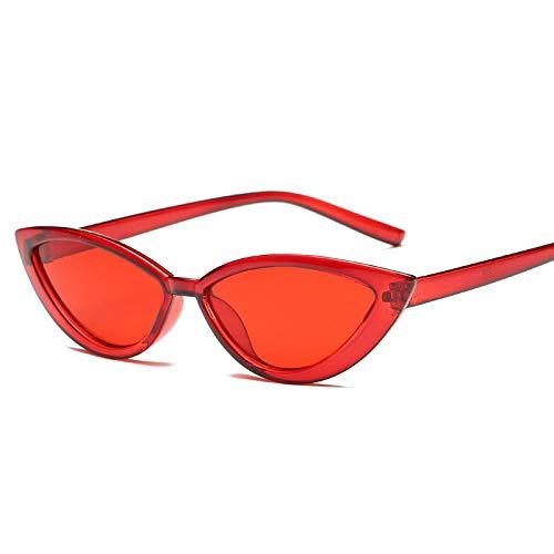chuanglanja Gafas De Sol Mujer Elegantes Gafas De Sol Con Montura Transparente Estilo Ojo De Gato Accesorios Rojos De Verano Para Mujer Para La Playa UV400-03