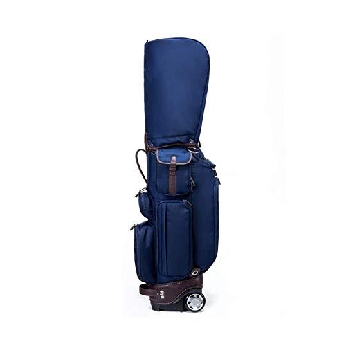 JJSFJH Bolsos de Soporte de Golf Bolsa de Golf Bolsa de Golf Lightweight Golf Funda de Viaje Estuche Organizador de Golf Bolsa de Trolley Nylon con Ruedas para Hombres fáciles de Llevar (Color: Azul)