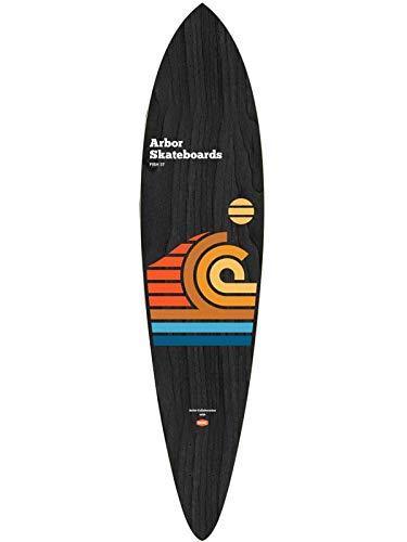 Arbor Cruiser Deck Artist Draplin Fish 37 Skateboard, Erwachsene, Unisex, Mehrfarbig