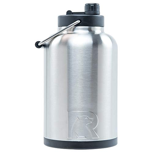 RTIC Jug with Handle,One Gallon, Stainless Steel,...