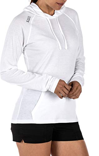5.11 Tactical Series Cruiser Hoodie Femme, White, FR : S (Taille Fabricant : S)