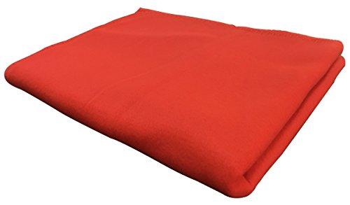 KiGATEX Polar-Fleecedecke in vielen Farben 130x160 cm pflegeleicht für Innen oder Außen (rot)