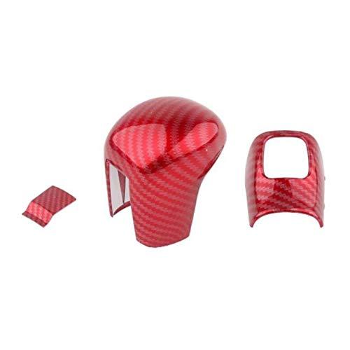 SHOUNAO 3 PCS/Set Palanca Encendido Cambio de la Palanca de Engranaje de la Palanca de Cambios Piezas de Cubierta Trim 3PCS / Set Fibra DE Carbono