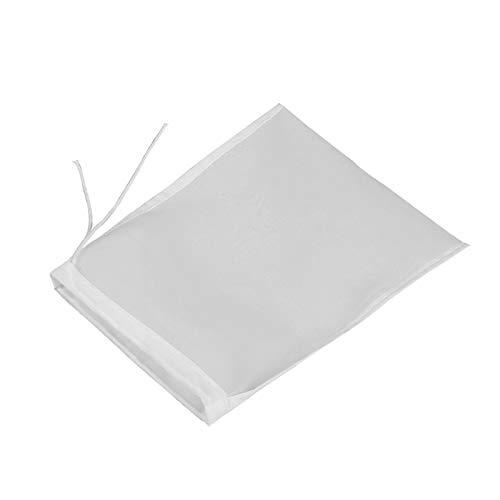 Yilin Bolsa de nailon para colar alimentos, bolsa de filtro de malla fina, bolsa coladora con cuerda de drenaje, bolsa reutilizable de malla para jugo yogur, yogur y leche de soja 30 x 45 cm.