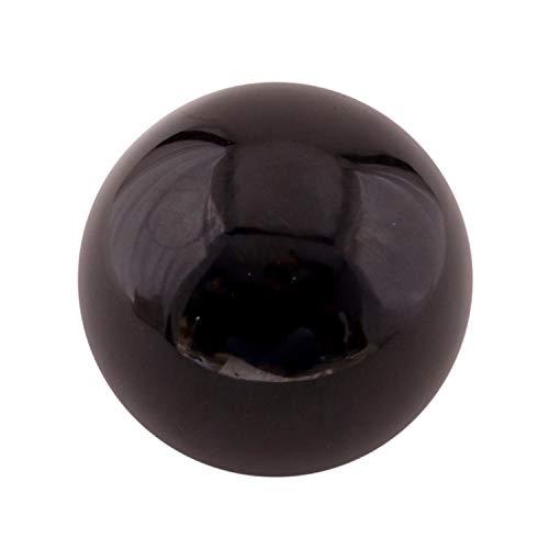 Dharohar Handicraft Healing Chakra Stones Crystal Decor Quartz Sphere, Reiki Energy Meditation Negative Ion Generator Sphere For Positive Energy (Black Obisidian 50-60 Mm)