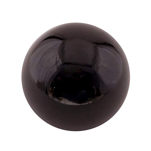 Dharohar Handicraft Healing Chakra Stones Crystal Decor Quartz Sphere, Reiki Energy Meditation Negative Ion Generator Sphere For Positive Energy (Black Obisidian 50-60 Mm)