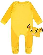 Disney Conjunto de Pijama Entera y Gorro para Niños Bebés El Rey león