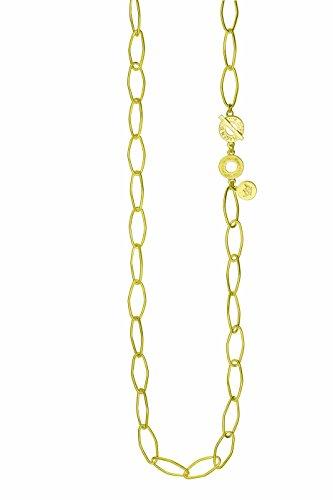 SENCE Copenhagen Gliederkette Signature Necklace Worn Gold 90 cm T962