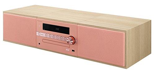 Pioneer X-CM56D HiFi-Micro-System (CD-Player, Lautsprecher, DAB+, UKW Radio, Bluetooth, USB, MP3, 2 x 15 Watt) Kompaktanlage für Küche, Wohnzimmer, Schlafzimmer und Büro, Apricot
