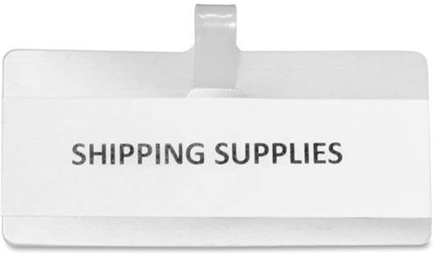 WL3515 Panter Wire Rack Shelf Tags - 3.5  Width x 1.5  Height - White