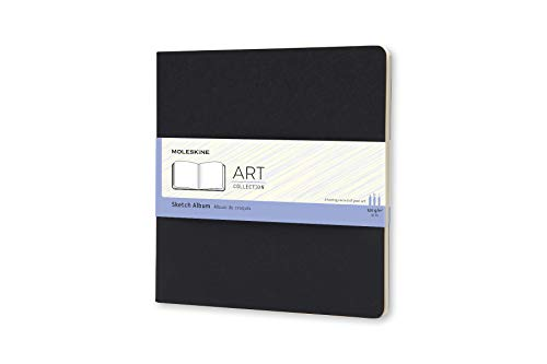 Moleskine Art Sketch Album, Hard Cover, Square (7.5' x 7.5') Plain/Blank, Black, 88 Pages