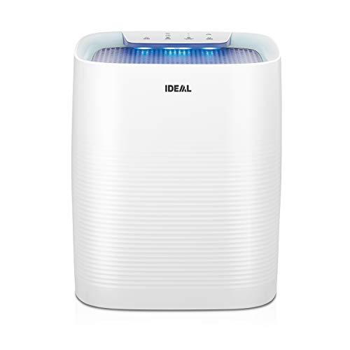 IDEAL - Luftreiniger AP35 bis zu 45m² mit HEPA Filter und Geruchsfilter, CADR 330m³/h gegen Feinstaub, Pollen, Allergene, Bakterien, Schimmelsporen, Zigarettenrauch, Gerüche - ideal für zuhause