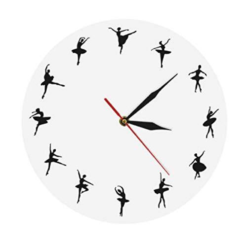 mazhant Orologio da 12'Design Ballerino Design Unico Orologio da Parete Regalo per Balletto Ballerine Decorazioni per La Casa Balletto Studio di Danza Orologio da Parete Iconico