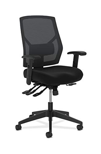 HON Crio High-Back Task Chair -Mesh Back Computer Chair with Asynchronous Control for Office Desk, in Black (HVL582)