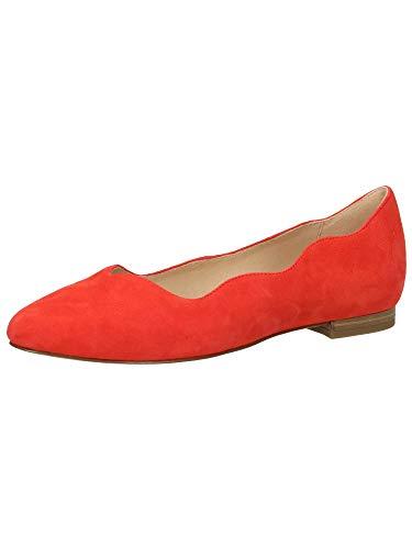 CAPRICE Donna Ballerine Coral Suede Rosso, (Coral Suede) 9-9-24201-24/514