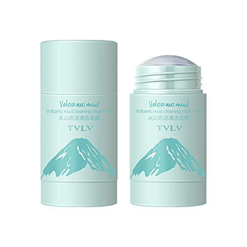 Mascarilla de arcilla purificadora de té verde, aceite facial de control, limpieza profunda de poros, removedor de espinillas de acné, mejora la piel para todo tipo de piel, paquete de 2