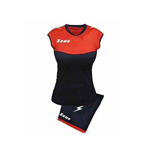 Zeus Sara Volleyball-Set für Schule, Sport, Training, Volley, Pegashop S Blau/Rot