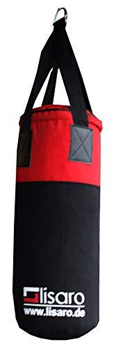 Lisaro Jugend/Kinder Boxsack Ca. 9_kg Boxsack ca.60 X 25 cm, Farbe schwarz- rot
