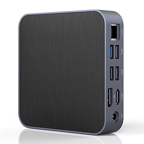 Mini PC Windows 10 Pro, AMD Althlon 300U 8GB DDR4 (Upgradeable Dual Channel) 128GB SSD Mini Desktop Computer, AMD FreeSync/Radeon Vega 3 Grafik 1000MHz, Small PC Support Dual 4K UHD via DP/HDMI