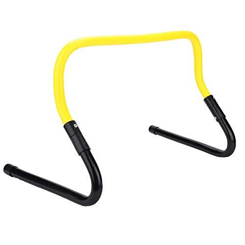 Pwshymi Vallas de Entrenamiento de Velocidad de fútbol con Vallas Altura Ajustable 15/30 cm Accesorio de Entrenamiento de Agilidad de Velocidad de fútbol(Amarillo y Negro)