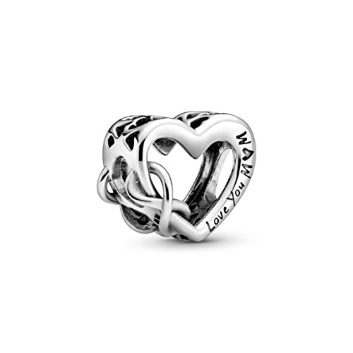 PANDORA Love You Mom Infinity Heart 925 Sterling Silver Charm - 798825C00