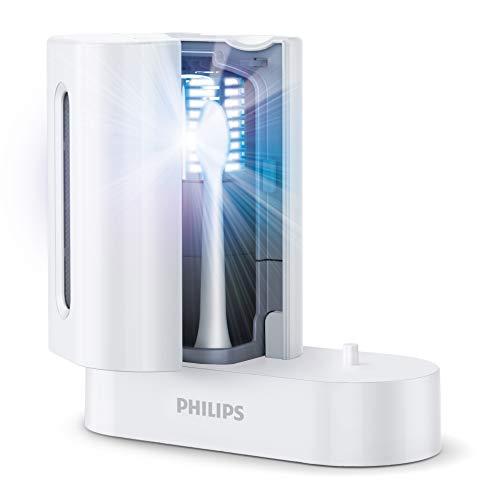 Philips HX6907/01 UV-Reinigungsgerät, Integriertes Ladegerät für die Philips Sonicare Zahnbürste, Weiß