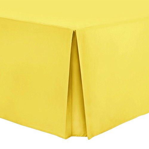 Nimsay Home - Mantovana da letto in policotone, tinta unita, policotone (48% cotone, 52% policotone)., Sedano, Doppio